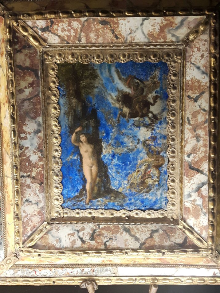Andromeda; oil on lapislazzuli