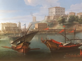 View on Anzio (detail), oil on canvas