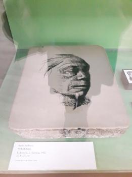Self-portrait, Lithographic stone
