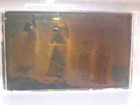 Glass negative - statues