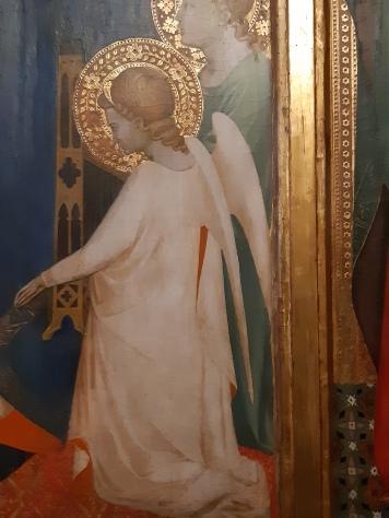 Maestro Francesco (ambito di Andrea Orcagna)(Firenze, 1363 ca.) St. Paul enthroned and other saints, Venice, Galleria Cini