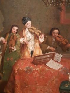 Pietro Longhi (1701-1785), Il Concertino (detail); Venice, Gallerie dell'Accademia