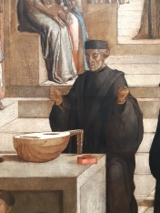 """Lazzaro Bastiani (1425/30-1512) """"Offerta della reliquia della Croce ai confratelli della Scuola di San Giovanni Evangelista"""" (detail); Venice, Gallerie dell'Accademia"""