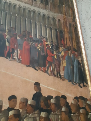 Gentile Bellini (1429-1507) Procession in St. Mark's Square (detail); Venice, Gallerie dell'Accademia
