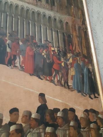 Gentile Bellini (1429-1507) Procession in St. Mark's Square (detail); Venice, Gallerie dell'Accademia