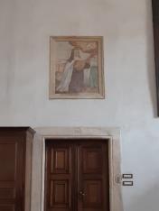 Late XVII century master, St. Theresa playing a Christ-cittern, Vicenza, Oratorio di Santa Chiara, Coro delle Monache