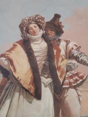 Giovanni Domenico Tiepolo (1727-1804), The love declaration, Gothic Room - Foresteria, Vicenza, Villa Valmarana ai nani