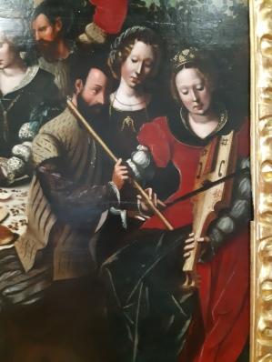 Ambrosius Benson (c.1495-1550), Concert at a table / Prodigal Son (?), Verona, Museo di Castelvecchio