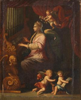 Saint Cecilia surrounded by angels; Bonhams, 25.04.2018, lot 150