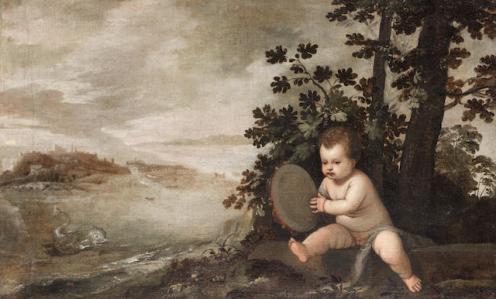 An infant holding a tambourine; Bonhams, 05.12.2012, lot 85