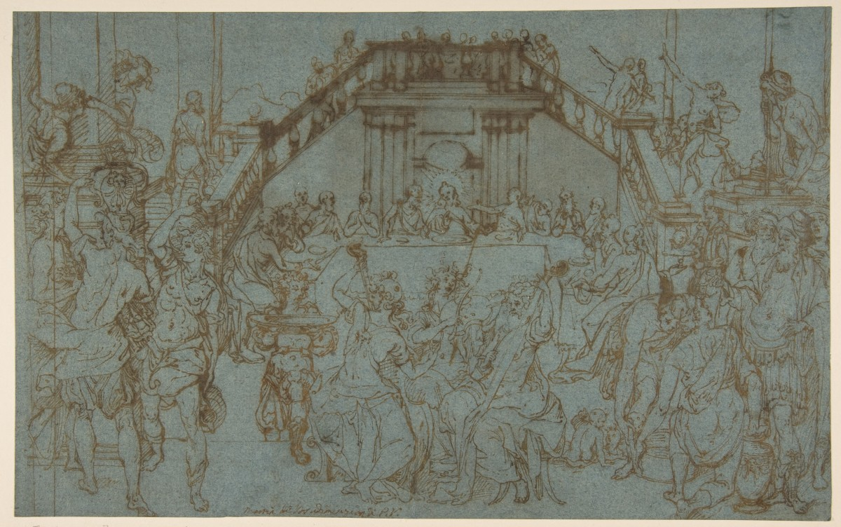 The Wedding Feast at Cana; Traditionally attributed to Maerten de Vos (Netherlandish, Antwerp 1532–1603 Antwerp)
