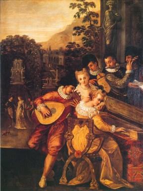 Ludwig Toeput (Ludovico Pozzoserrato) Concert in a Villa